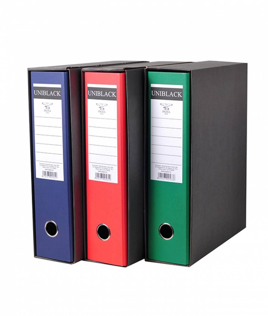 Biblioraft UNIBLACK 8 cm verde, cu cutie