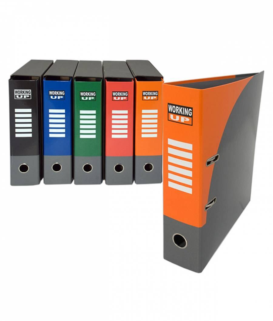 Biblioraft WorkingUp PL 8cm portocaliu, cu cutie