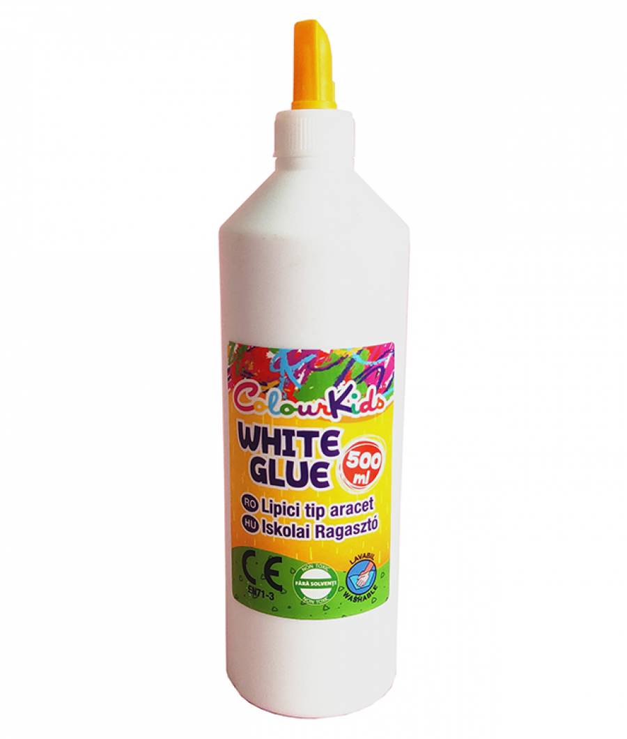 Lipici Colour KIDS scolar alb 500ml NON TOXIC Colour Kids