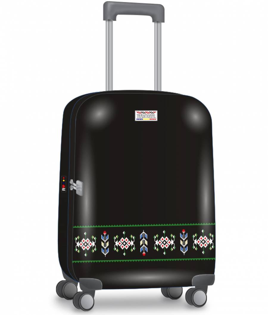 Valiza troller 69cm ABS ETHNO Mod 5