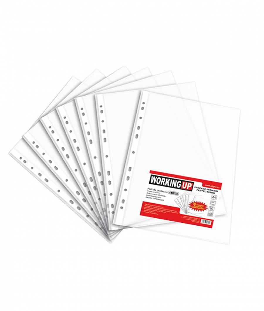 Folie protectie Standard, A4 40mic, 100/set, WorkingUp