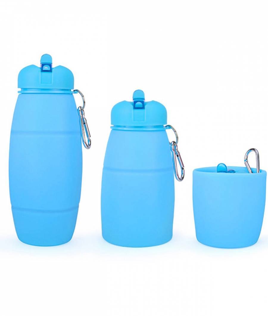 Sticla Lichide PREMIUM silicon 600 ml albastru