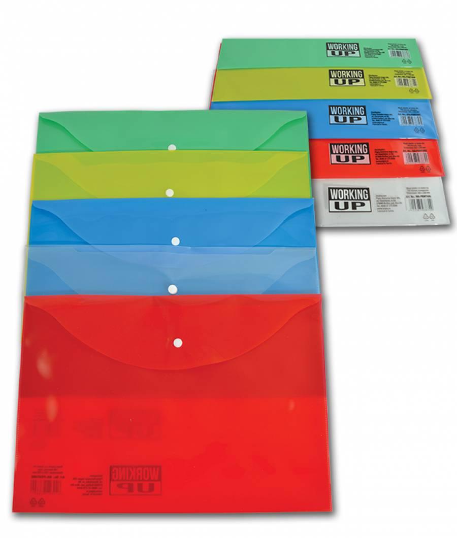 Mapa  plastic  cu buton A4, WUP 140mic Albastru