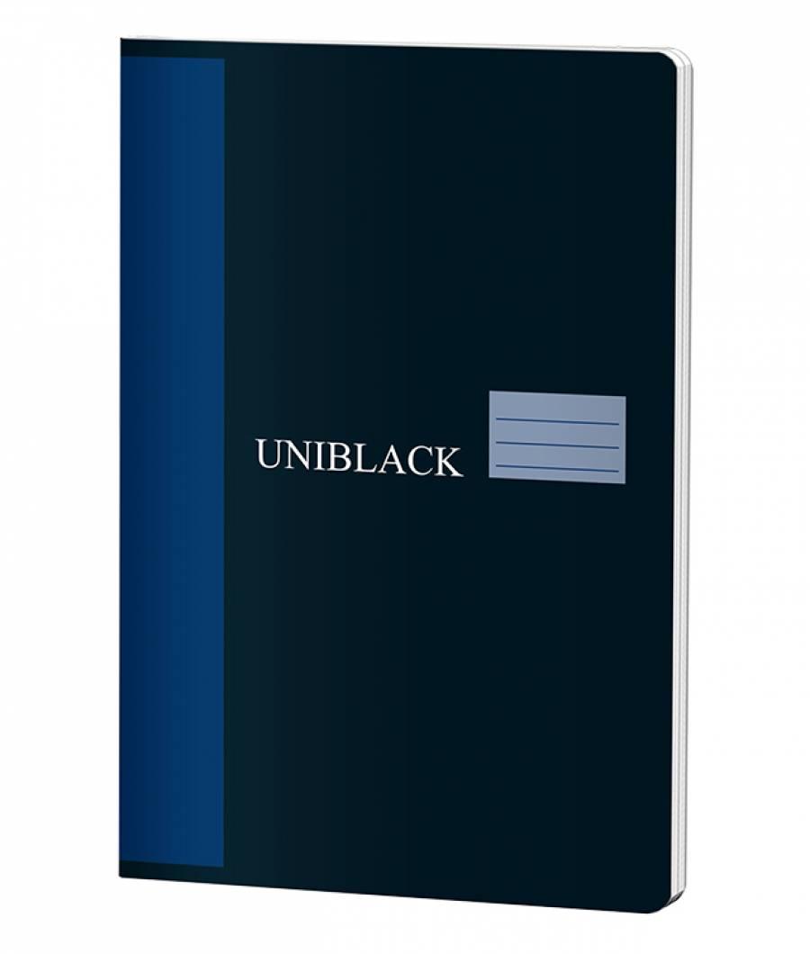Caiet A4 60f D Uniblack 230gr coperta, 70gr interior, cop. albastra