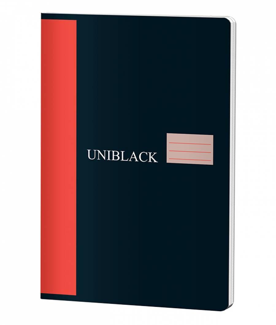 Caiet A4 60f D Uniblack 230gr coperta, 70gr interior, cop. rosie