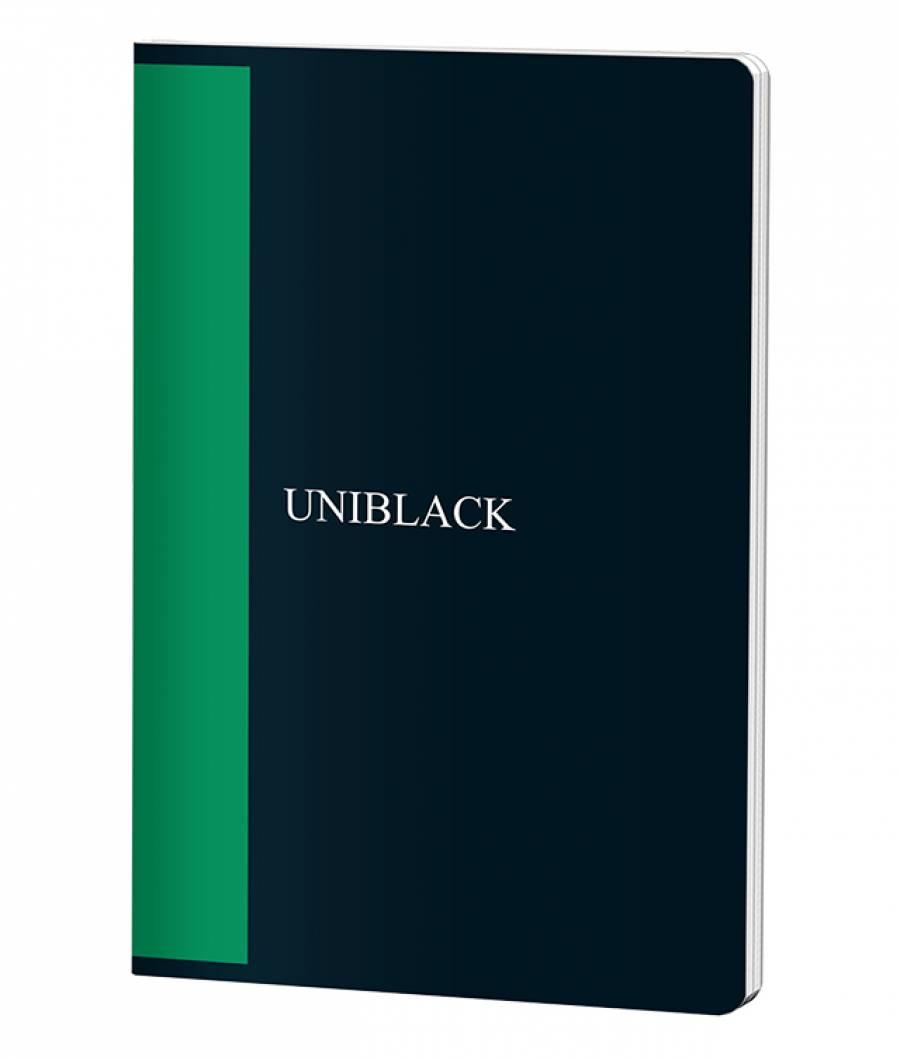 Caiet A4 60f D PP Uniblack 300 mic 70gr, cop. verde
