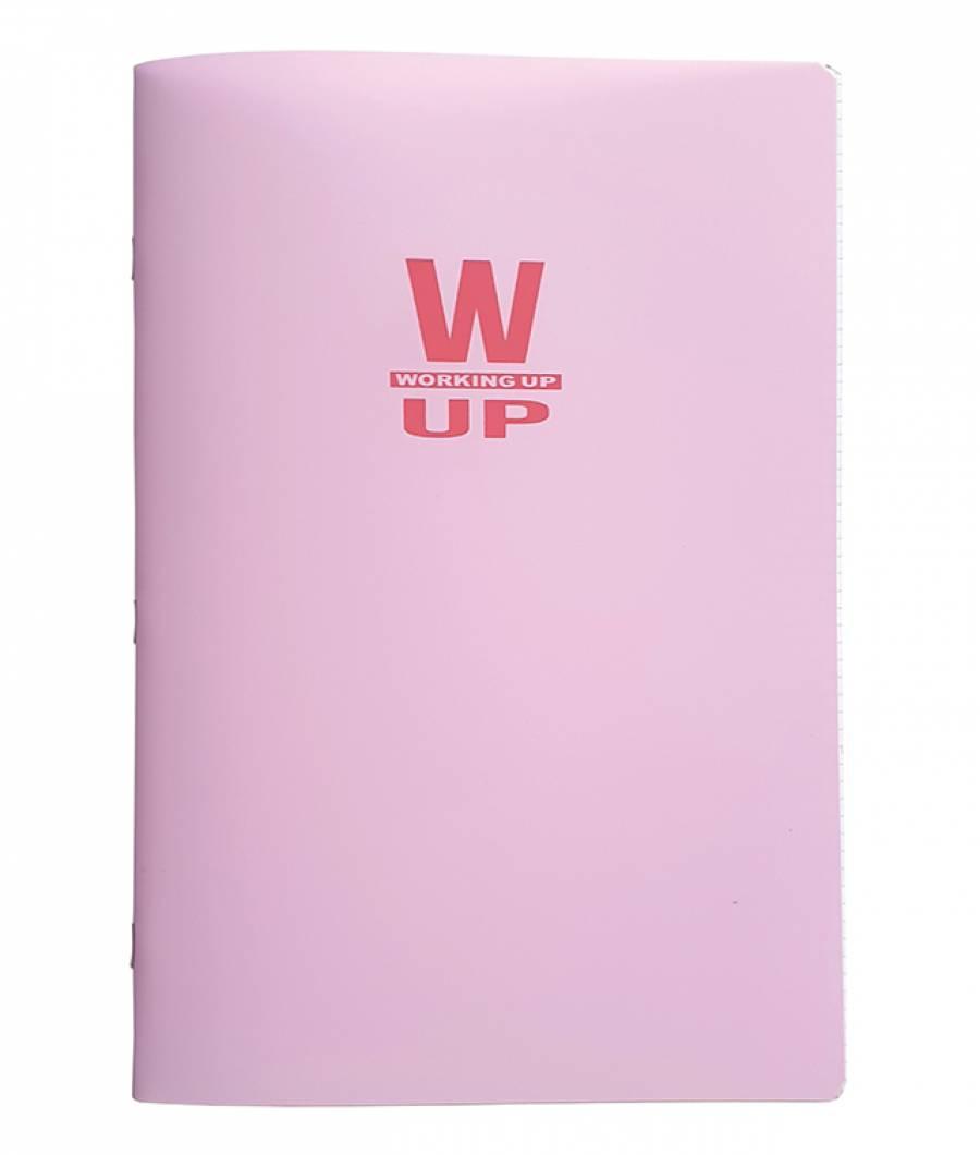 Caiet A4 60f D PP WorkingUp 300 mic 70gr roz pastel