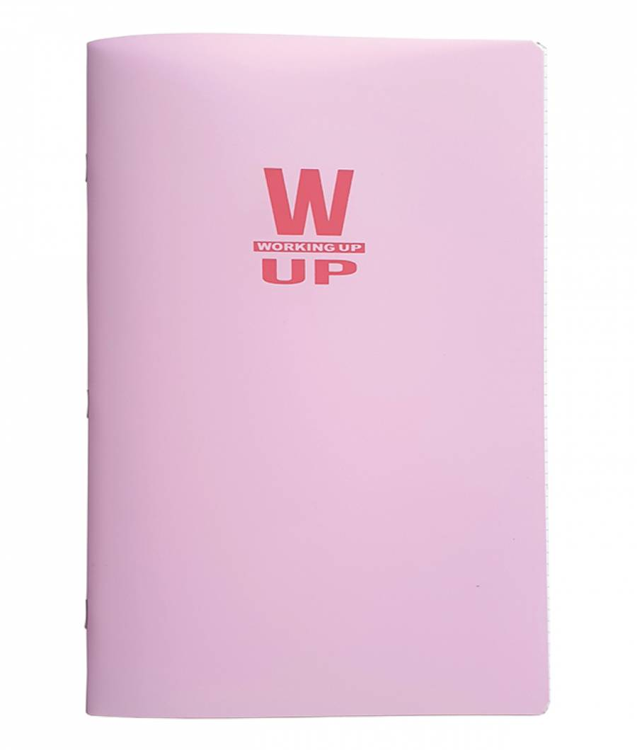 Caiet A4 60f M PP WorkingUp 300 mic 70gr. roz pastel