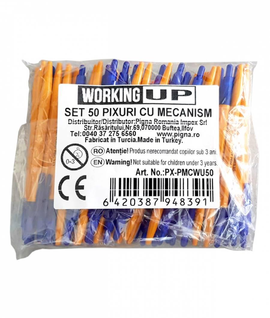 Pix WUP cu mecanism, mina albastra ambalat 50 in punga