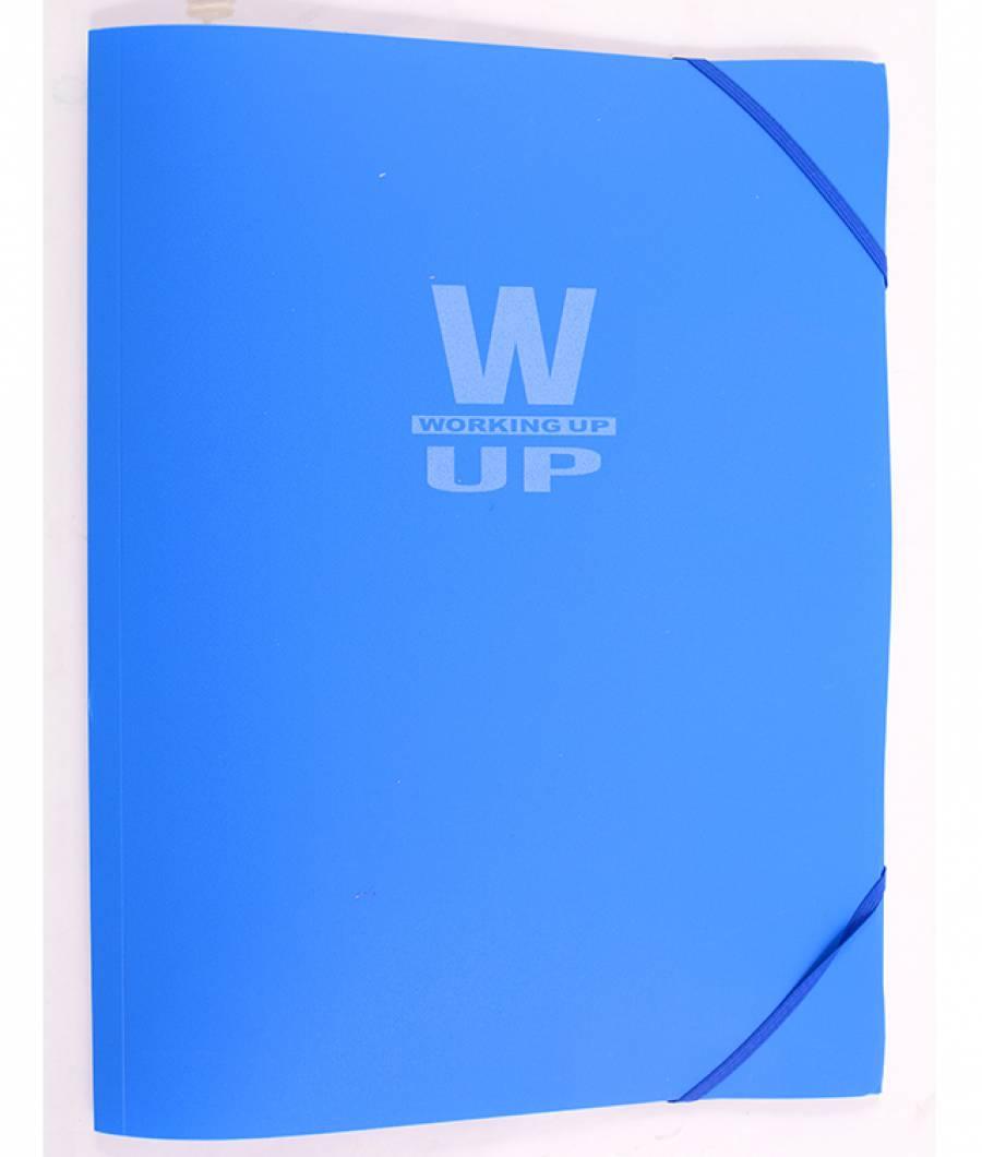 Mapa  plastic  cu elastic Working-Up 600mic albastru
